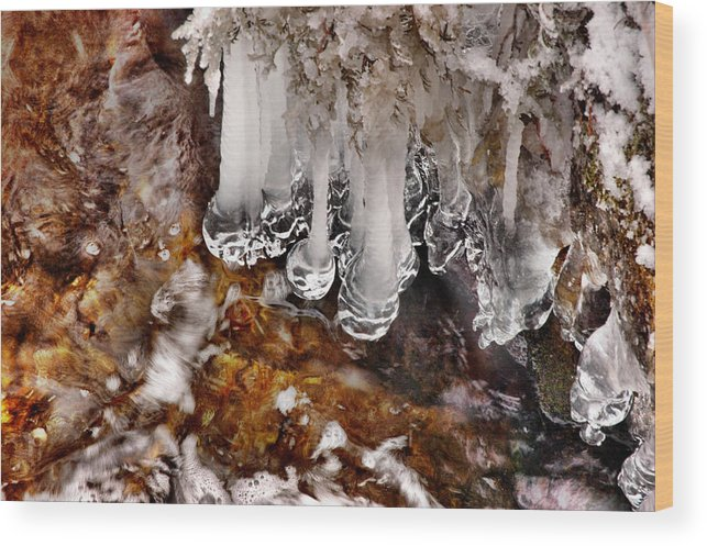 Ice Wood Print featuring the photograph Ice Stream by Rick Couper