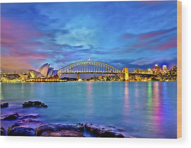 Sydney Wood Print featuring the photograph Icons Of Sydney Harbour by Az Jackson