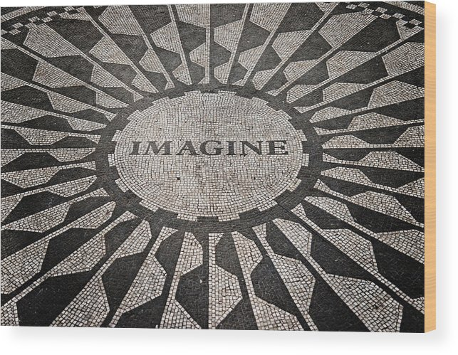 New York City Wood Print featuring the photograph Imagine by Benjamin Matthijs