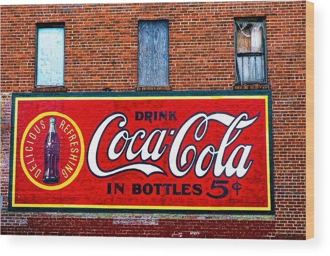 Wood Print featuring the photograph In Bottles by Rodney Lee Williams