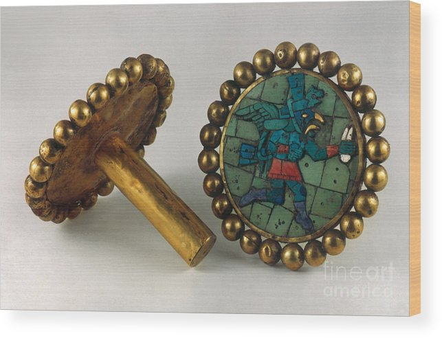 3rd Century Wood Print featuring the photograph Inca Earrings by Granger