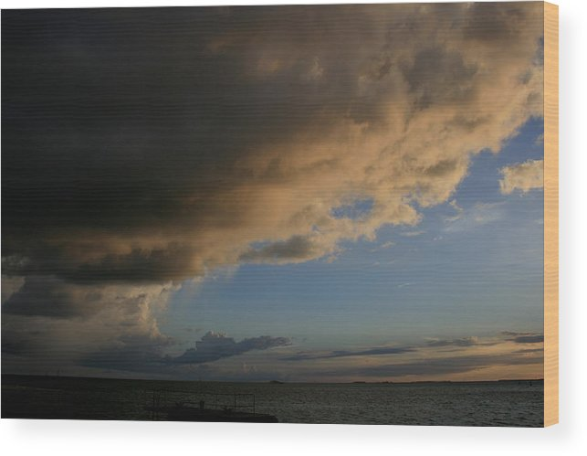 Seascapes Wood Print featuring the photograph Incoming Weather by Allan E Dooley Jr