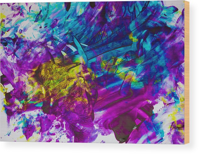 Paintings For Sale Wood Print featuring the painting Indestructible Season by Kaia Brimer