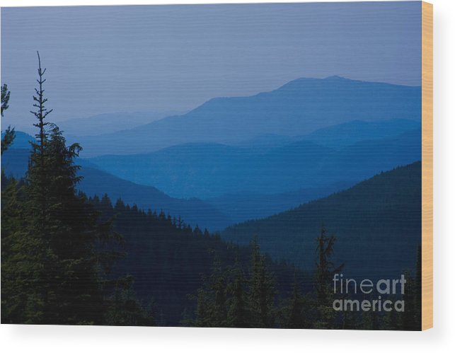 Mountain Wood Print featuring the photograph Infinity by Idaho Scenic Images Linda Lantzy