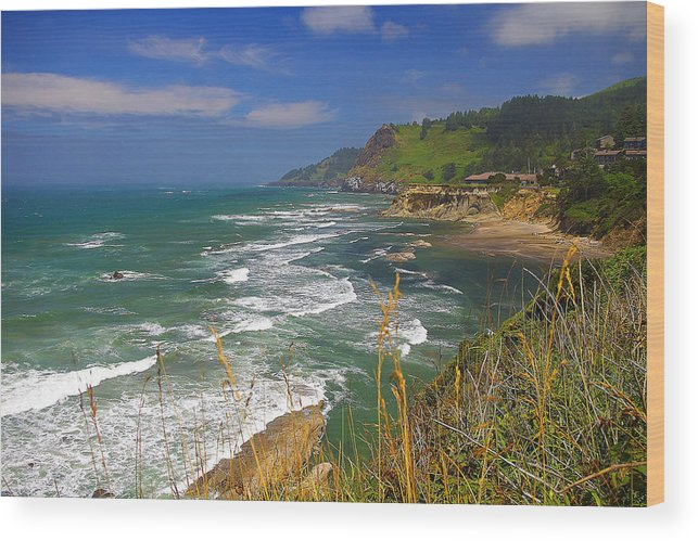 Oregon Wood Print featuring the photograph Inlet At Devils Punchbowl State Park Oregon by Rich Walter