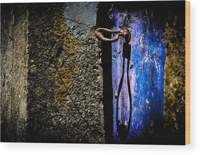 Blue Wood Print featuring the photograph Inside by Edgar Laureano