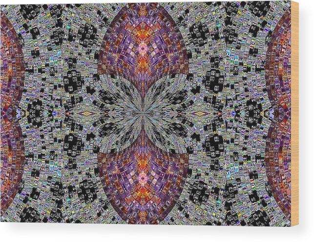 Abstract Digital Art Wood Print featuring the photograph Inside by Guillermo Mason