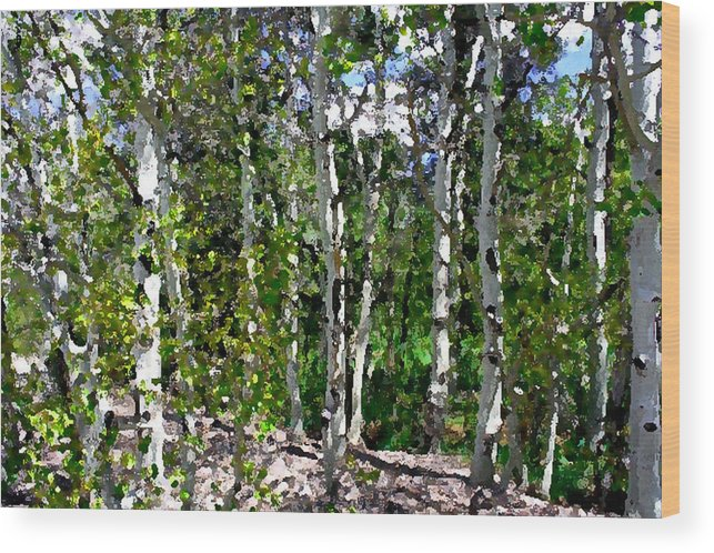 Photo Wood Print featuring the photograph Into The Forrest by Mary Gaines