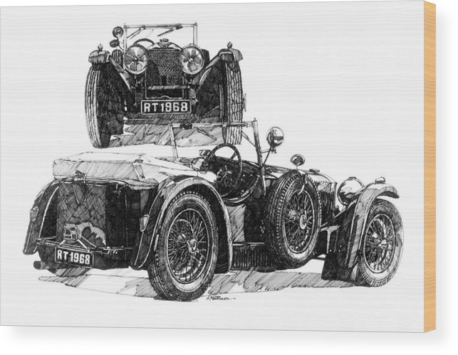 Transportation Wood Print featuring the painting Invicta by Ron Patterson