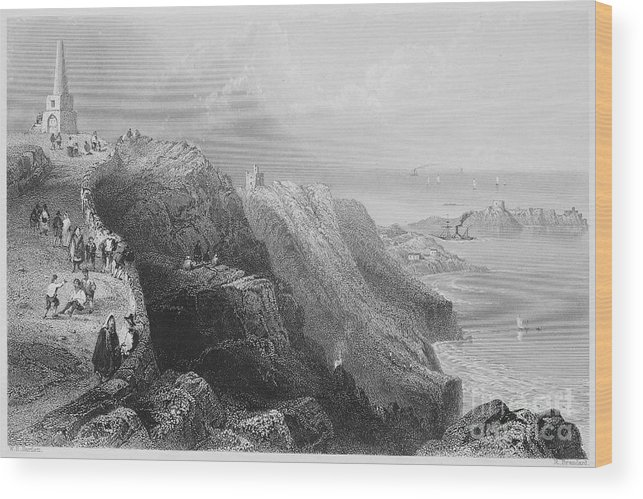 1840s Wood Print featuring the photograph Ireland: Killiney Hill by Granger