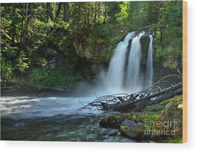 Waterfall Wood Print featuring the photograph Iron Cross Falls by Rick Mann