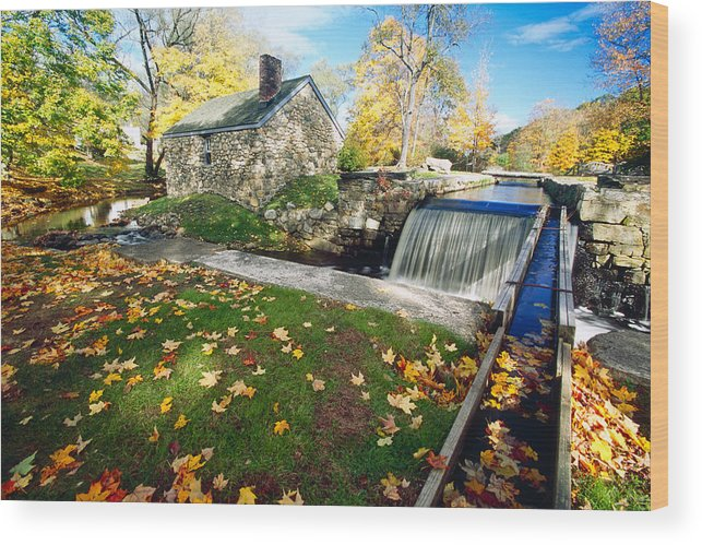 Autumn Wood Print featuring the photograph Ironsmith Hut And Creek by George Oze