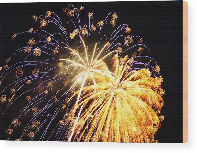 4th Of July Wood Print featuring the photograph It's A Celebration by Beth Collins