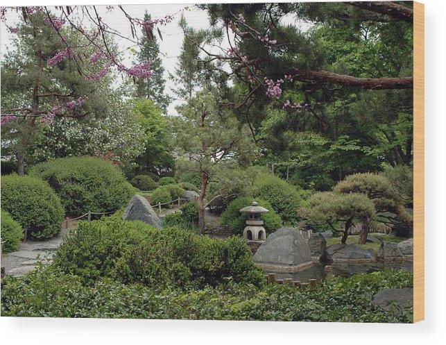 Japanese Garden Wood Print featuring the photograph Japanese Garden IIi by Kathy Schumann