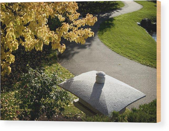 Nikka Yuko Wood Print featuring the photograph Japanese Lantern by Tom Buchanan
