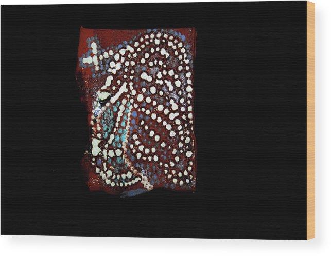 Godly Wood Print featuring the ceramic art Jesus Gethsemane by Gloria Ssali
