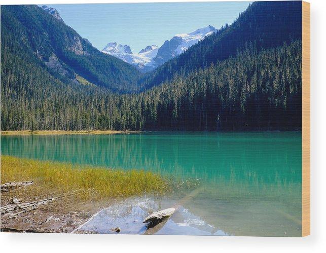 British Columbia Wood Print featuring the photograph Joffre Lake Horizontal by John McArthur