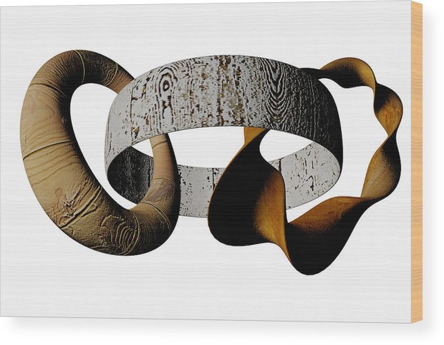 Circle Wood Print featuring the digital art Join Circles by R Muirhead Art