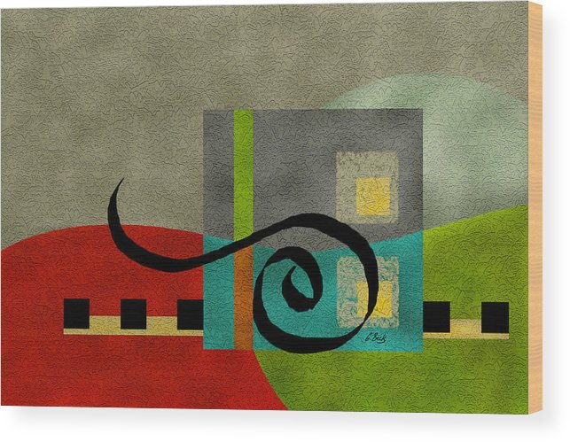 Contemporary Wood Print featuring the painting Joy by Gordon Beck