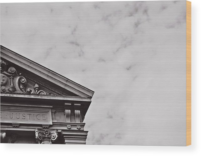 Justice Wood Print featuring the photograph Justice by Tinto Designs
