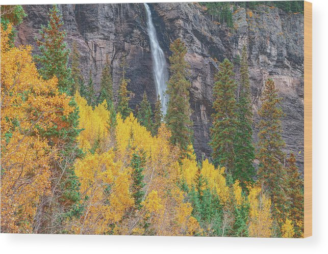 Bridal Veil Falls Wood Print featuring the photograph Justice Is The Only Worship. Love Is The Only Priest. by Bijan Pirnia