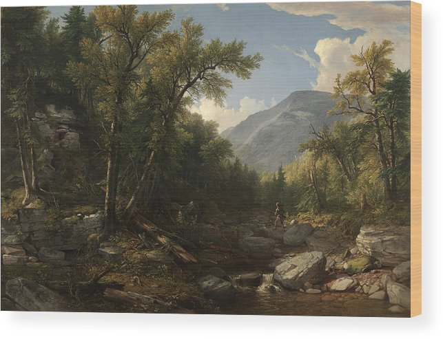 Kaaterskill Clove By Asher Brown Durand 2 Wood Print featuring the painting Kaaterskill Clove by Asher Brown Durand
