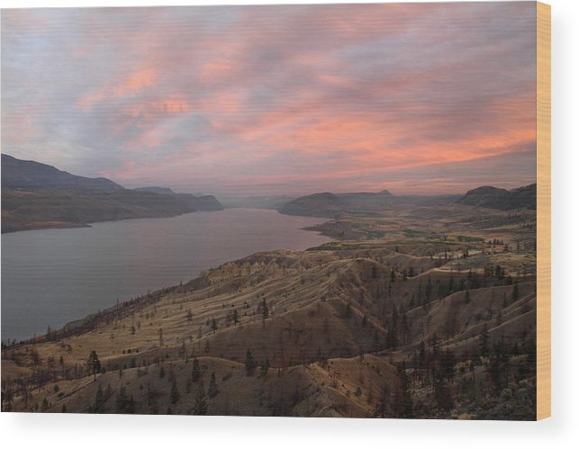 Kamloops Wood Print featuring the photograph Kamloops Lake British Columbia Canada by Pierre Leclerc Photography