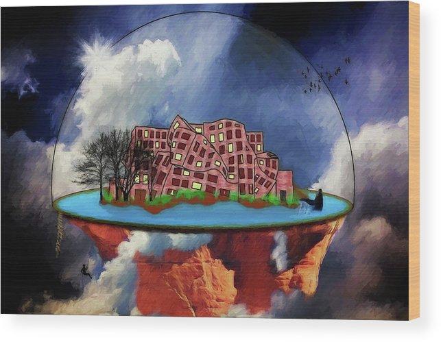 Kandor Wood Print featuring the digital art Kandorian Dreams by John Haldane