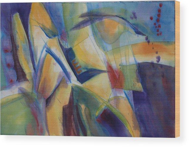 Kansas Wood Print featuring the painting Kansas Jazz by Christine Peterson