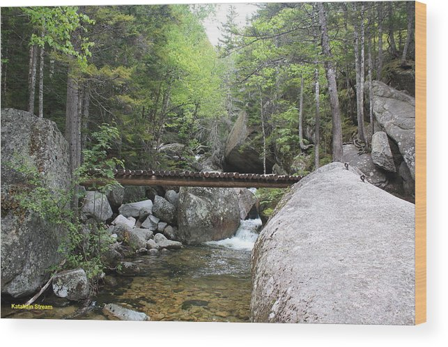 Water Clean Water Wood Print featuring the photograph Katahdin Stream by Lewis Journeyman