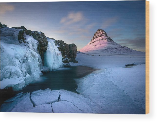 Iceland Wood Print featuring the photograph Kirkjufell, Iceland by Peter OReilly