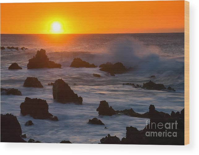 Lava Formations Wood Print featuring the photograph Kohala Sunset by Aaron Whittemore
