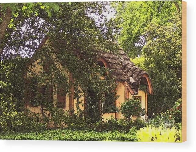 Cottage Wood Print featuring the photograph La Maison by Debbi Granruth
