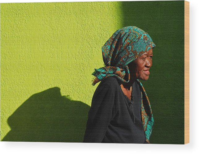 Africa Wood Print featuring the photograph Lady In Green by Skip Hunt