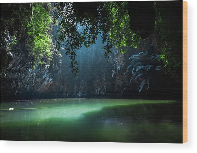 Lagoon Wood Print featuring the photograph Lagoon by Nicklas Gustafsson