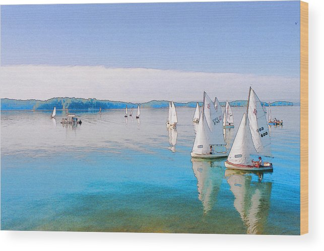 Water Wood Print featuring the digital art Lake Lanier by Randy Sprout