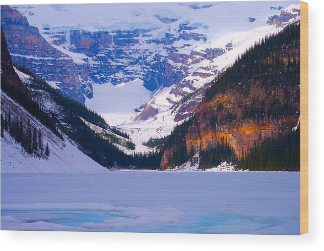 Lake Louise Wood Print featuring the photograph Lake Louise by Paul Kloschinsky