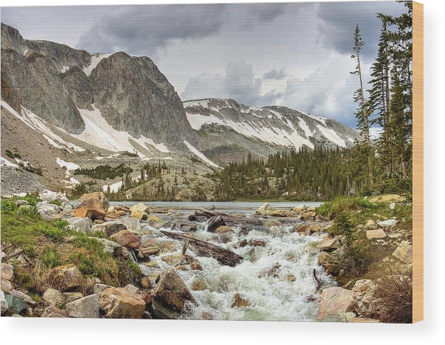 Wyoming Wood Print featuring the photograph Lake Marie by N D Finer