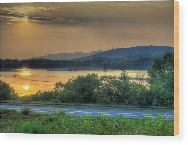 Lake Wood Print featuring the photograph Lake Washington And Route 209 by Mike Deutsch
