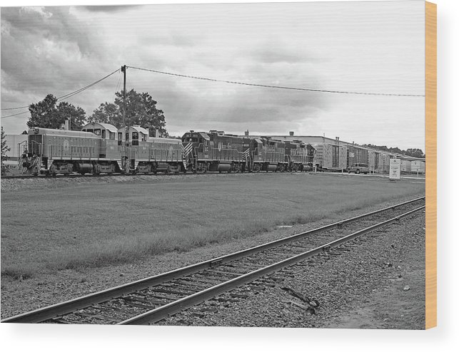 Lancaster And Chester Railroad Wood Print featuring the photograph Lancaster Chester 9/12 D B W 1 by Joseph C Hinson Photography