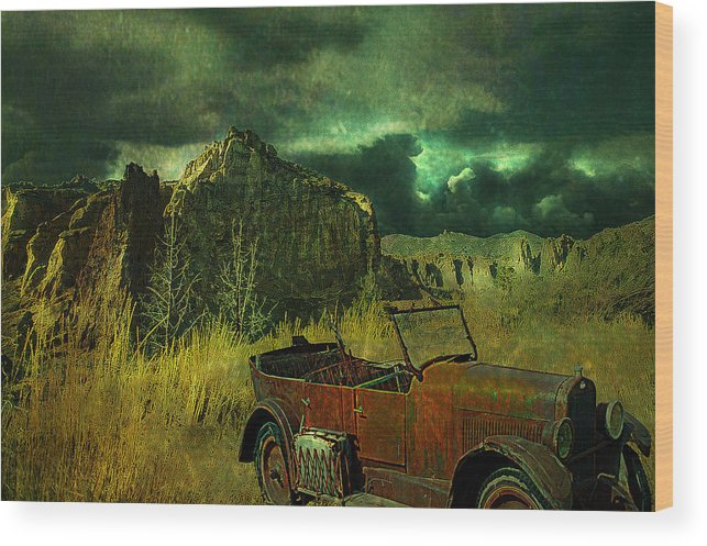 Landscape Wood Print featuring the digital art Land Rover by Jeff Burgess