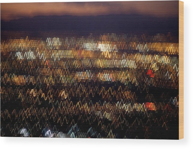 Aerial Wood Print featuring the photograph Las Vegas by Brad Rickerby