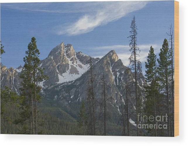 Majestic Wood Print featuring the photograph Last Light On Mcgowan by Idaho Scenic Images Linda Lantzy