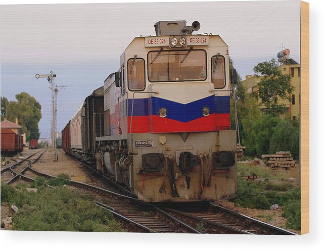 Train Wood Print featuring the photograph Last Train Home by Don Prioleau