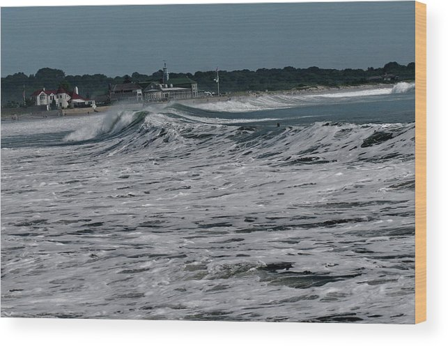 Atlantic Ocean Wood Print featuring the photograph Late Summer Storm by Barry Doherty