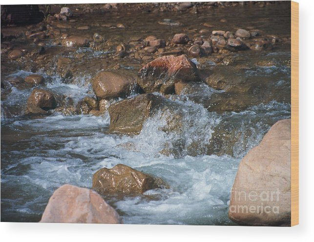 Creek Wood Print featuring the photograph Laughing Water by Kathy McClure