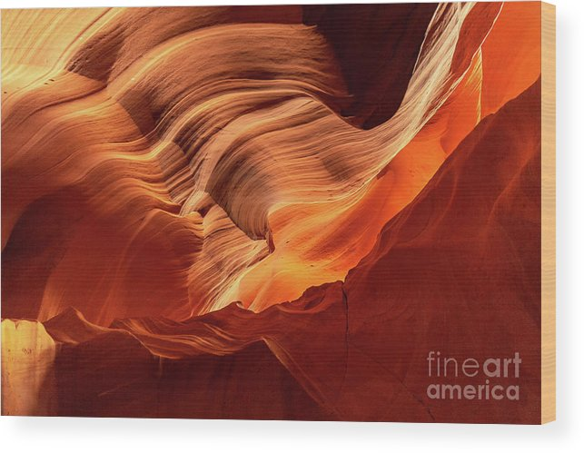 Antelope Canyon Wood Print featuring the photograph Light From Above by Mimi Ditchie