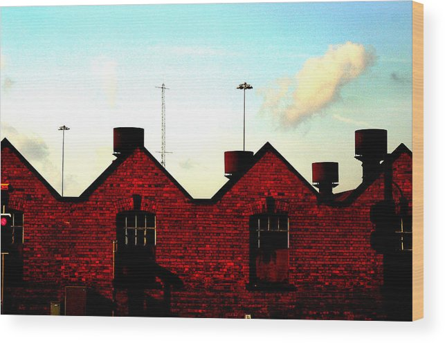 Jez C Self Wood Print featuring the photograph Light Industry by Jez C Self