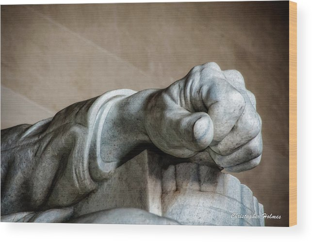 Hand Wood Print featuring the photograph Lincoln's Left Hand by Christopher Holmes