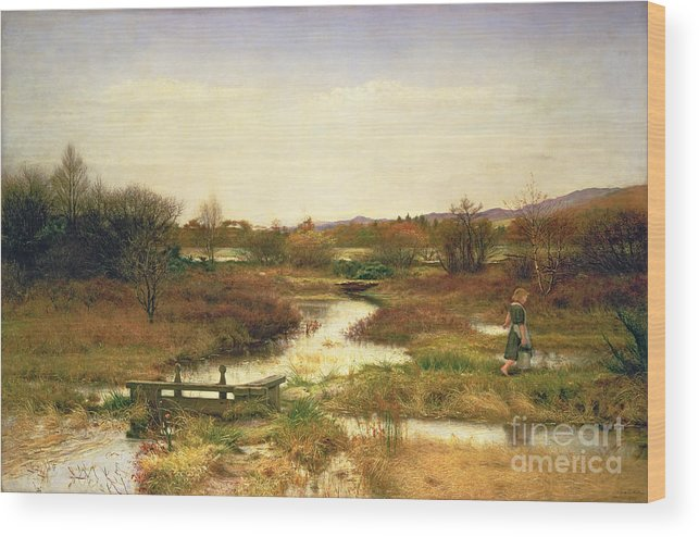Lingering Autumn Wood Print featuring the painting Lingering Autumn by Sir John Everett Millais